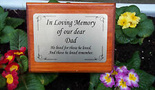 Solid Wooden Memorial Stake Grave/Tree Marker Cremation Personalised Dad Father