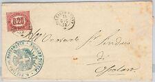 CREMONA --- ITALIA REGNO:  storia postale - BUSTA da: PIZZIGHETTONE 1875