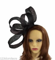 Black Fascinator Hat For Weddings/Ascot/Proms With Headband
