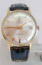 Solid 18k TISSOT VISODATATE Automatic Watch c.1960s* EXLNT* SERVICED