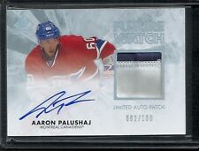 2011-12 SP Authentic AARON PALUSHAJ #229 LIMITED Future Watch Patch Auto #92/100