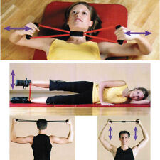 New Style Purple Sport Fitness Yoga 8 Shape Pull Rope Tube Equipment Tool Gym