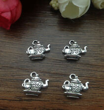 Wholesale 10pcs Tibet silver Teapot Charm Pendant beaded Jewelry Findings