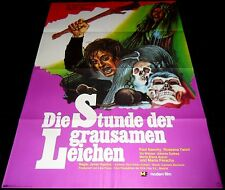 1973 Hunchback of the Morgue ORIGINAL GERMANY A1 POSTER Paul Naschy HORROR