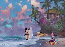 RAVENSBURGER JIGSAW PUZZLE SURF'S UP JAMES COLEMAN 500 PCS MICKEY MOUSE #14341