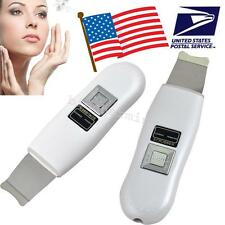 USA Portable Facial Ultrasonic Ultrasound Ion Skin Scrubber Device Beauty Care