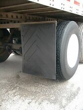 """Set of Two (2) NEW Rubber Universal MudFlaps 24""""x30"""" Truck Trailer"""