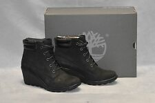 C0 NEW TIMBERLAND Earthkeepers Amston 6 Inch Black Nubuck Boots Shoes Sz US 8 M