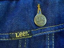 vtg 70s LEE RIDERS denim jacket indigo blue trucker jean men medium 153438 MINT
