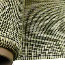 "200g Carbon Fiber/Yellow Fabric 2x2 Twill 40""*40"" I Shape Weave"