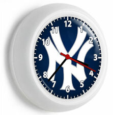 NY NEW YORK YANKEES BASEBALL TEAM LOGO WALL CLOCK MAN CAVE BEDROOM GARAGE DECOR