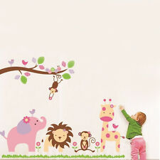 Removable Jungle Animal Zoo Wall Sticker Home Decor Decal Nursery Kids Baby Room