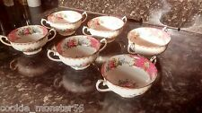 Royal  Albert  Lady  Carlyle  Soup  Bowl  Set  x 6  RARE