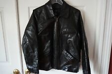 Women's GAP Genuine Leather Black Motorcycle Style Jacket Size XS