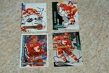 Lot of (4) ROBERT REICHEL Autographed Signed Hockey Cards Collection NO RESERVE