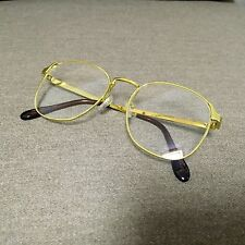 Gold Oversized Wayfarer Geek Nerd Retro Vintage Metal Glasses 60s 80s