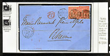 GB 1864 QV COVER WITH 4d COMMA VARIETY USED IN LIVERPOOL.