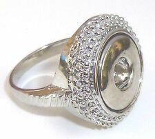 Mini Snap It Ring  (Size 7 1/2)  Fit Mini Snap Buttons
