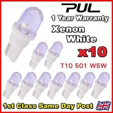 10 x T10 501 W5W LED Sidelight Bulbs / Interior / Number Plate LEDS - WHITE