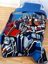 FLEECE BLANKET TRANSFORMERS OPTIMUS PRIME SINGLE THROW AUTOBOTS TRUCK BLUE RED