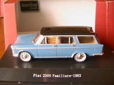 FIAT 2300 FAMILIARE AZURE BLACK 1963 STARLINE 530231 1/43 BREAK SW STATION WAGON