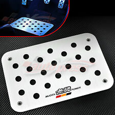 ALUMINUM ANTISKID Floor Mat Carpet Pedal PLATE HONDA ACURA Mugen Civic Accord