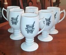 6 Rx Pharmacy Coffee Mugs Irish Coffee Mugs c1950-60's UNIQUE VERY RARE