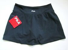 NWT $50 FILA Black Stretchy Nylon SOFT Jersey Knit Sport Tennis Skort S