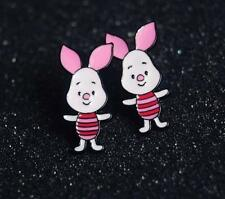 Pooh the winnie piglet metal earring ear stud earrings studs one pair new