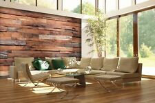 Rustic Reclaimed 3D Wood Wall Mural Decal Modern Boho Cottage Chic Wallpaper DIY