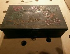 "VINTAGE OLD GEO BASSETT & Co CONFECTIONERS TIN ""WORKBOX"" CATCH Antique UK TOOLS"