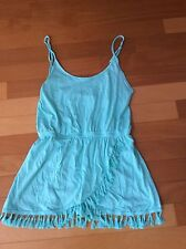 Victoria's Secret Boho Fringe Swimsuit Cover-up Dress Seafoam Size M New In Pack