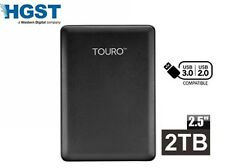 "HGST Touro Mobile USB 3.0 5Gb/s 2000GB 2000G 2TB 2.5"" External Hard Drive"