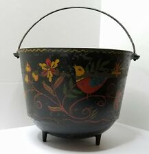 Antique Wagner Ware Sydney 0 #8 Cast Iron Kettle Bean Pot PA Dutch Folk Art