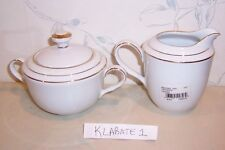 NEW Noritake LOCKLEIGH White Scapes Covered Sugar Bowl & Creamer SET - BRAND NEW