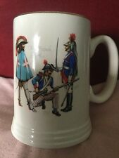 Lord Nelson Pottery Tankard of Military Interest Depicting French Guard Soldiers