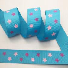 100Yards 1Inch(25mm) Printed Grosgrain Ribbon Hair Bow DIY Sewing #40