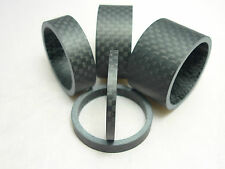 "Set of 3/5/10/15/20mm Carbon Fibre Matt Spacers 1 1/8"" Bike Bicycle Cycle MBT"