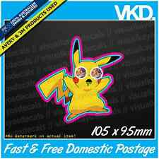 Stoned Pikachu Sticker/ Decal - Reddit Vinyl Laptop Pokemon Acid Funny JDM Drift