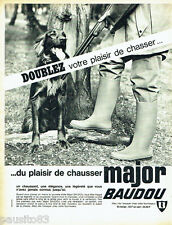 PUBLICITE ADVERTISING 016  1965  Major Baudou  bottes de chasse