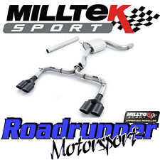 "Milltek SSXVW326 Golf GTI MK7-R Style Escape 3"" Cat atrás carrera no res Negro"