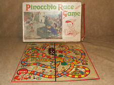 PINOCCHIO RACE GAME da Chad Valley vintage COMPLETE BOXED DISNEY