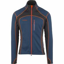 Mammut Men's Eiswand Technical Fleece Jacket Large in Blue and Black.