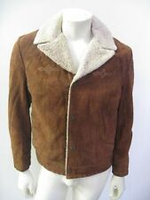 Vintage Levi's Suede Leather Sherpa Trucker Jacket Snap Up Size MEDIUM