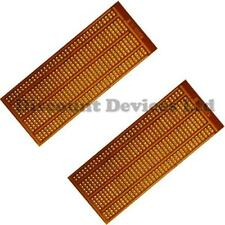 2x   50x100mm Bakelite 1.2mm Single Side Copper Prototype PCB Matrix/Strip Board