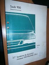 Saab 900 : manuel atelier partie 2:7 Système MOTRONIC 2.8.1 1994...