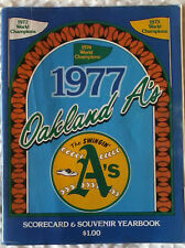 1977 3-Time World Champion Oakland Athletics Yearbook, Excellent Condition!