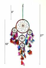 "Handmade Dream Catcher Wall Hanging Decoration with Feathers Gift 27"" Long"