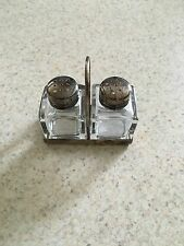Vintage Sterling Silver Salt Pepper Shakers With Carrying Case Very Unique