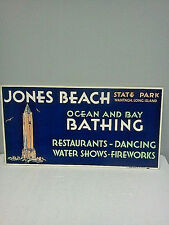 VTG 1940's/50's Jones Beach St.Park Wantagh,NY ,bus,train,Advertising Card,NOS